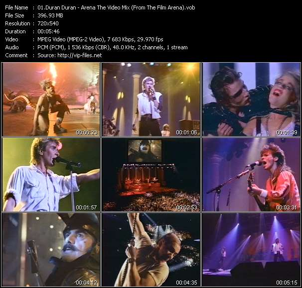 video Arena The Video Mix (From The Film Arena) screen