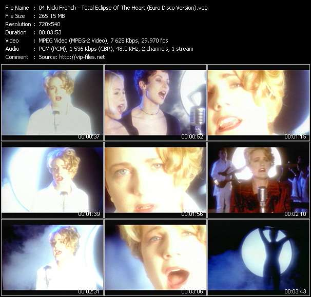 video Total Eclipse Of The Heart (Euro Disco Version) screen