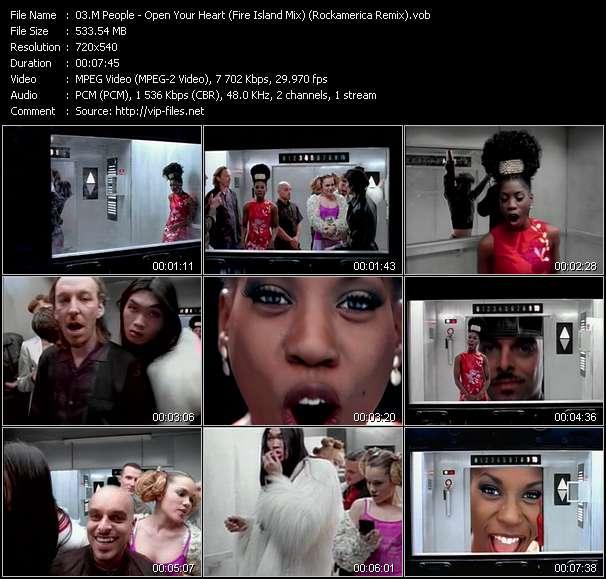 video Open Your Heart (Fire Island Mix) (Rockamerica Remix) screen
