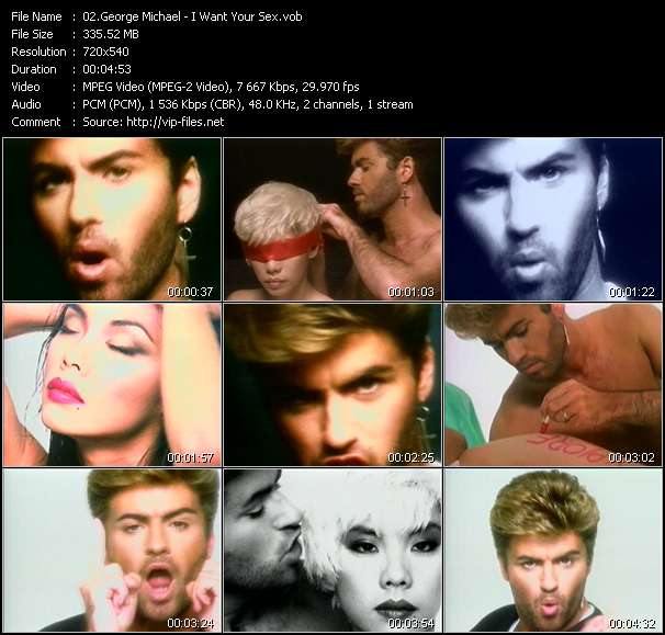 George Michael video screenshot