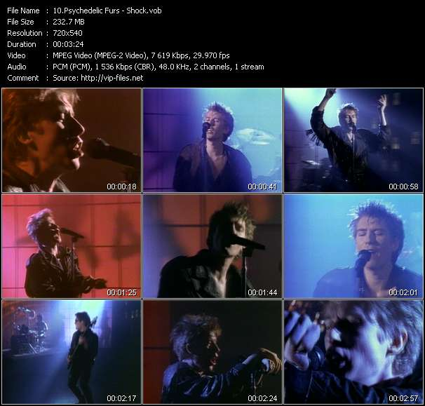 Psychedelic Furs video screenshot