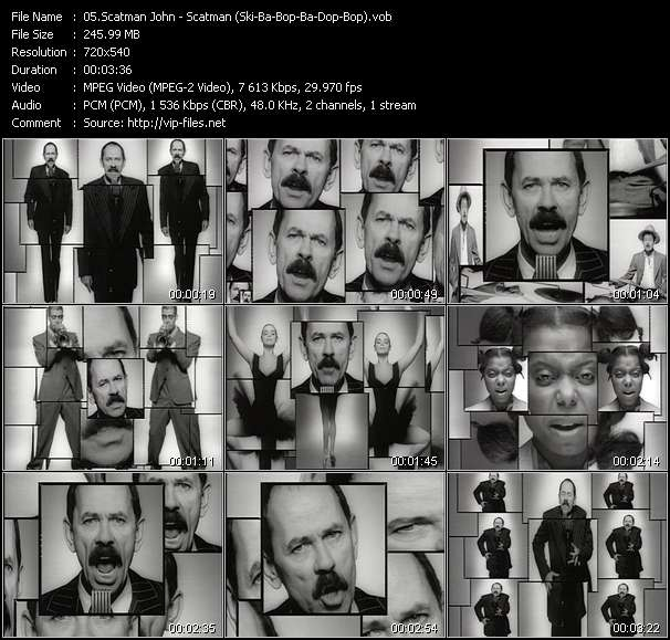 video Scatman (Ski-Ba-Bop-Ba-Dop-Bop) screen