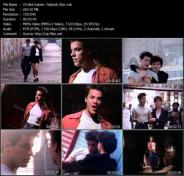 Nick Kamen video screenshot