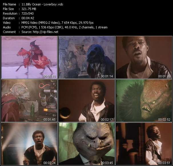 Billy Ocean video screenshot