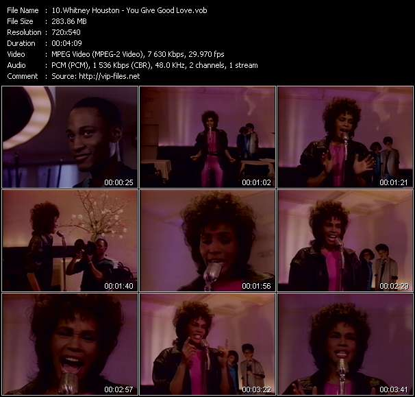 Whitney Houston video screenshot
