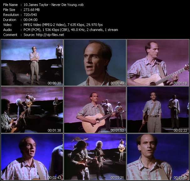 James Taylor video screenshot
