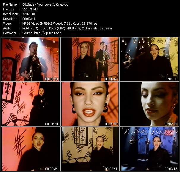 Sade video screenshot