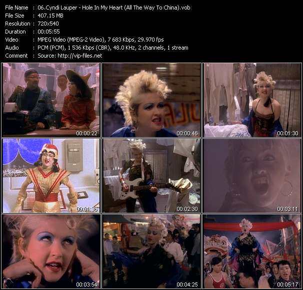 Cyndi Lauper video screenshot