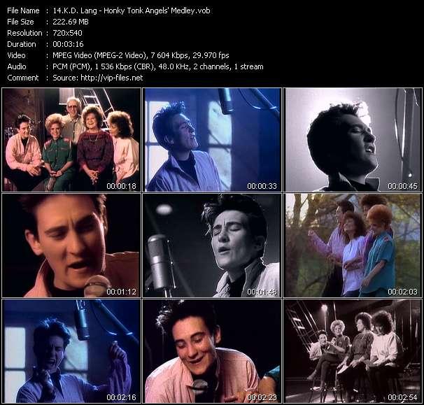 K.D. Lang video screenshot