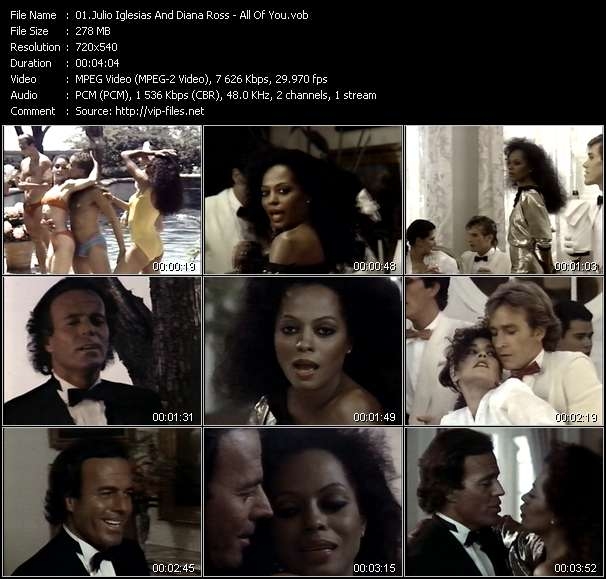 Julio Iglesias And Diana Ross video screenshot