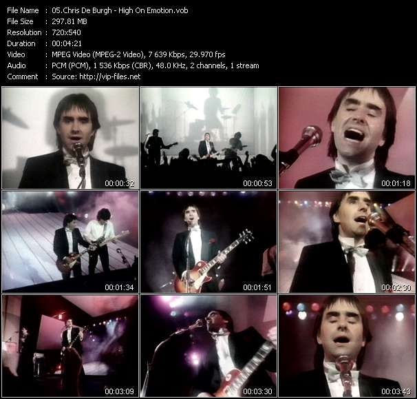 Chris De Burgh video screenshot