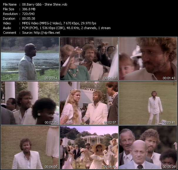 Barry Gibb video screenshot