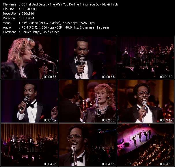 Hall And Oates (Daryl Hall And John Oates) With David Ruffin And Eddie Kendrick video screenshot