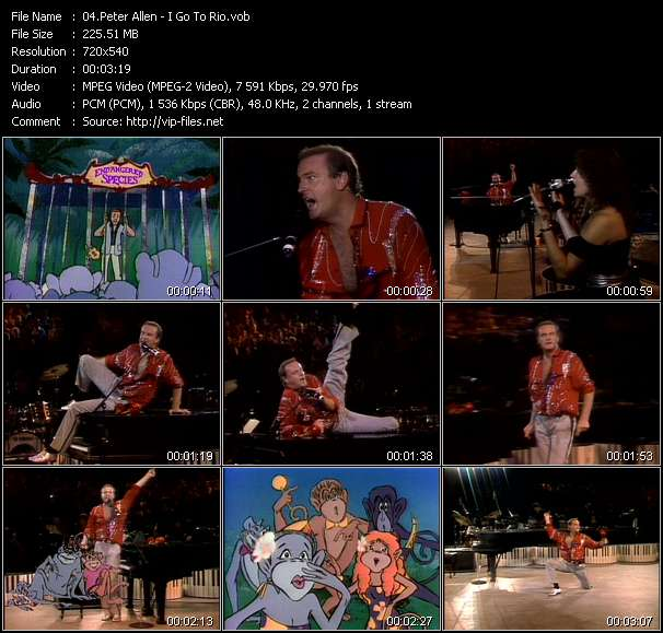 Peter Allen video screenshot