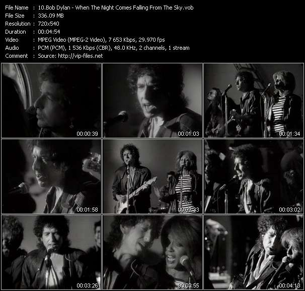 Bob Dylan video screenshot