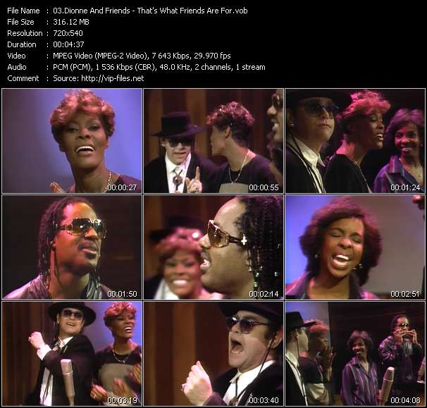 Dionne And Friends (Dionne Warwick, Elton John, Gladys Knight And Stevie Wonder) video screenshot