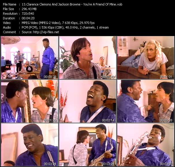 Clarence Clemons And Jackson Browne video screenshot