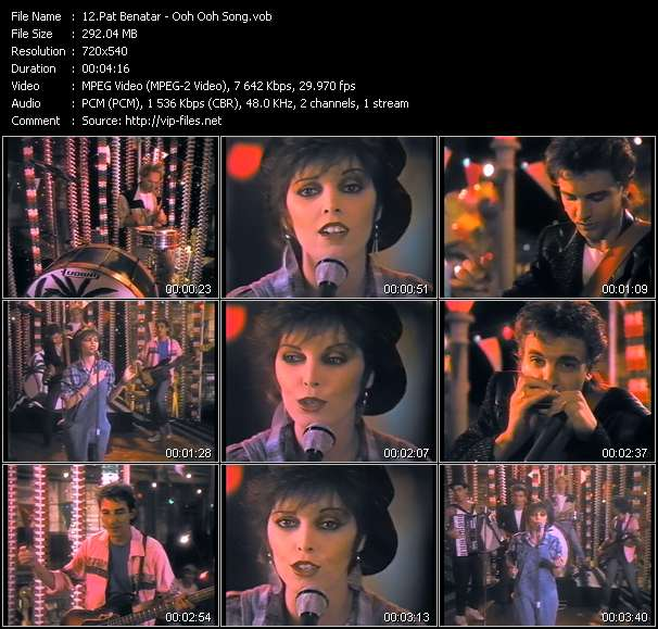 Pat Benatar video screenshot
