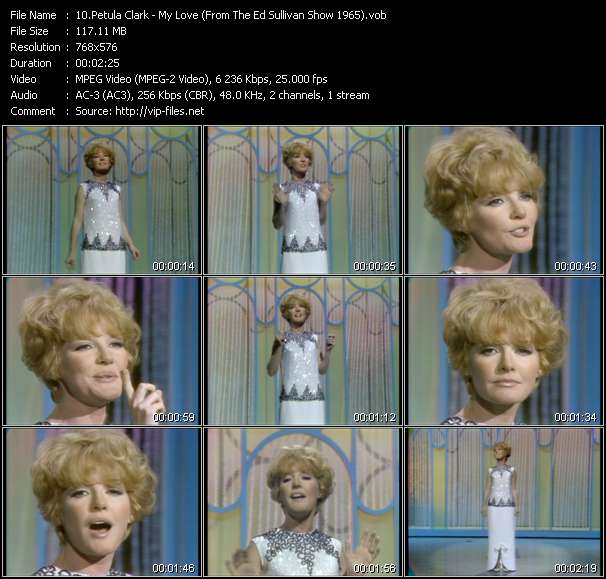 Petula Clark video screenshot