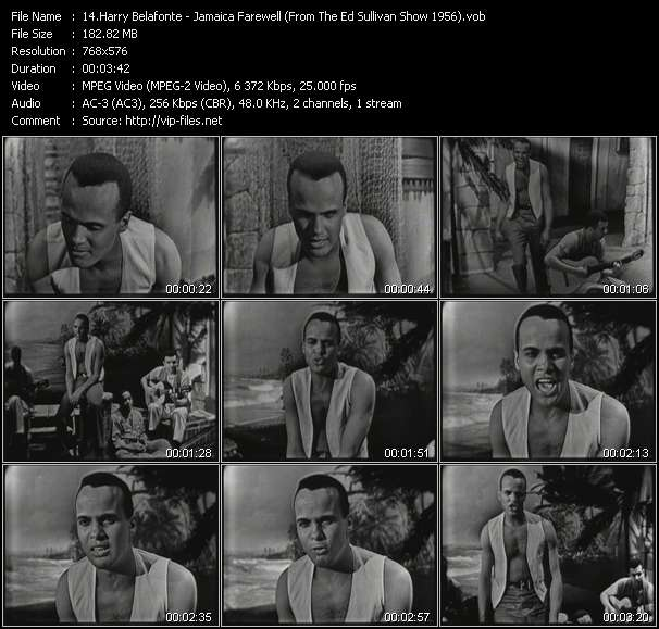 Harry Belafonte video screenshot