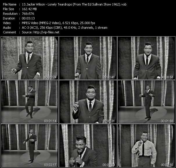 Jackie Wilson video screenshot