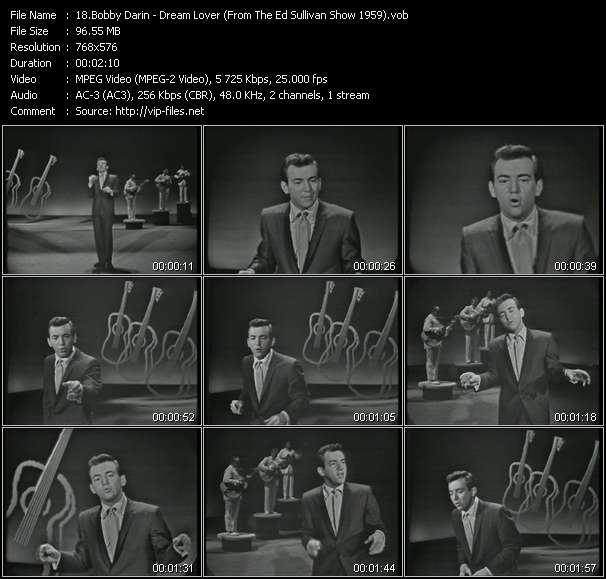 video Dream Lover (From The Ed Sullivan Show 1959) screen