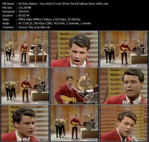 Ricky Nelson video screenshot