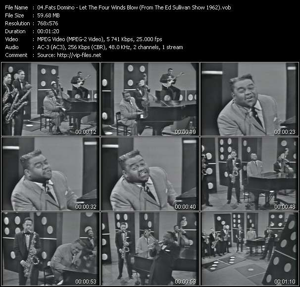 Fats Domino video screenshot