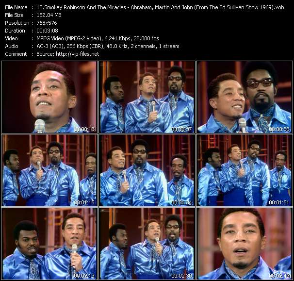 Smokey Robinson And The Miracles video screenshot