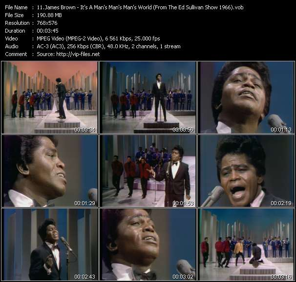 James Brown video screenshot