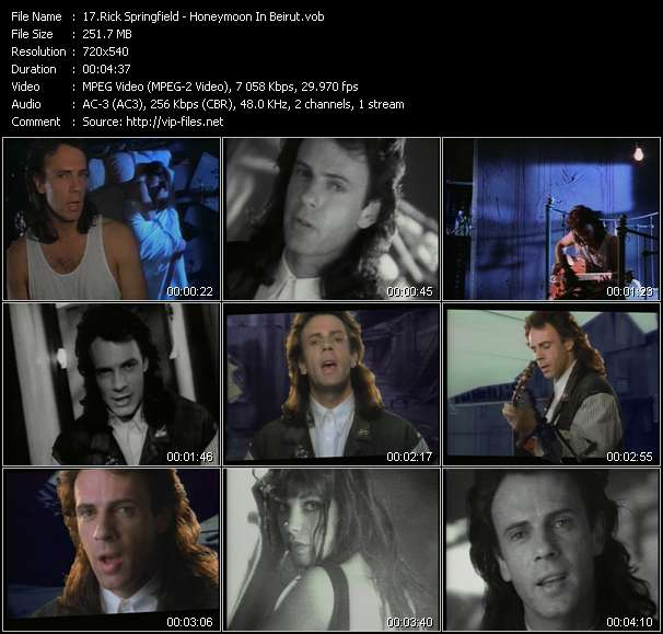 Rick Springfield video screenshot