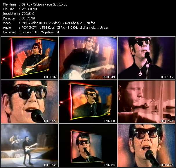Roy Orbison video screenshot