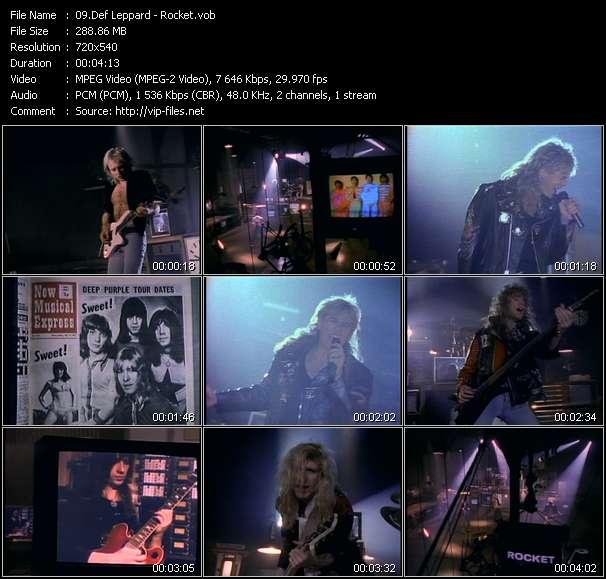 Def Leppard video screenshot