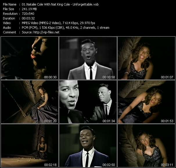 Natalie Cole With Nat King Cole video screenshot