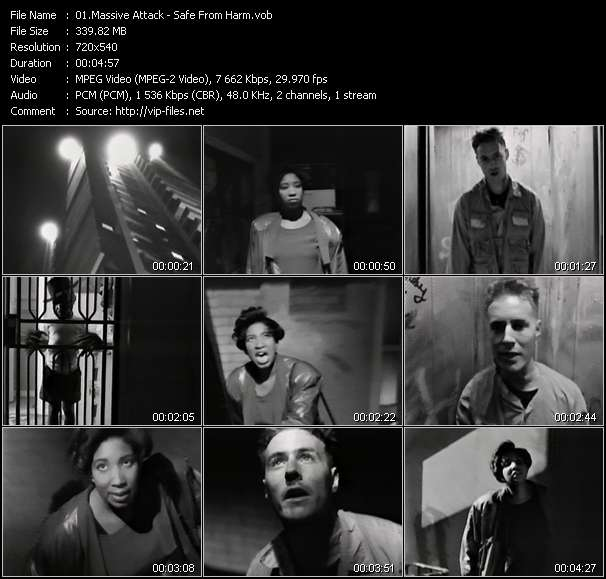 Massive Attack video screenshot