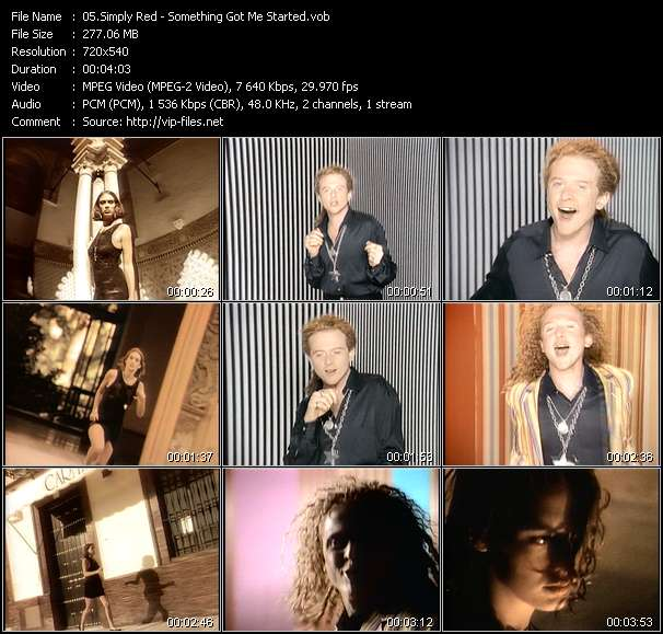 Simply Red video screenshot