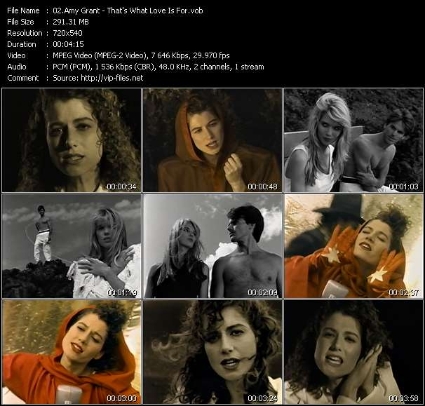Amy Grant video screenshot