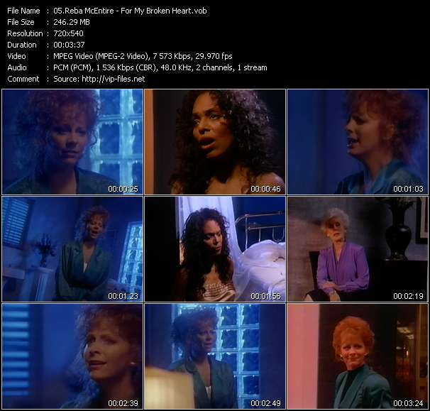Reba McEntire video screenshot