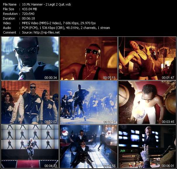 Mc Hammer video screenshot