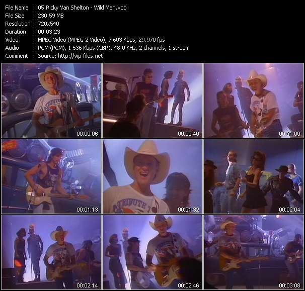 Ricky Van Shelton video screenshot