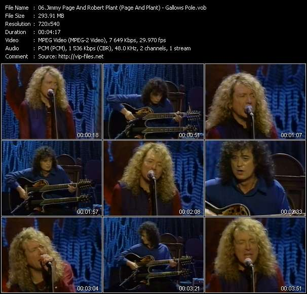 Jimmy Page And Robert Plant (Page And Plant) video screenshot