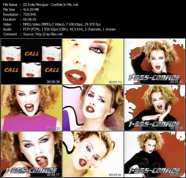 Kylie Minogue video screenshot
