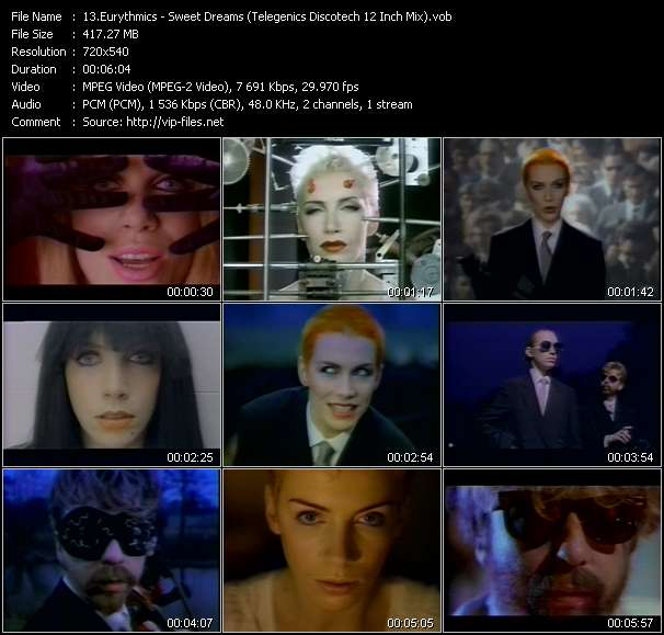 video Sweet Dreams (Telegenics Discotech 12 Inch Mix) screen