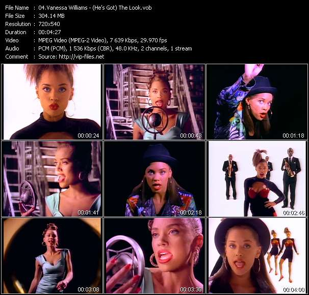 Vanessa Williams video screenshot