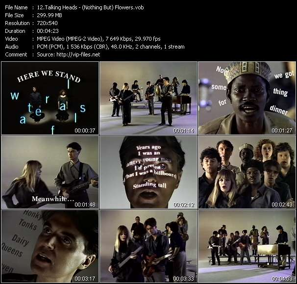 Talking Heads video screenshot