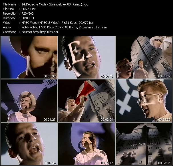 Depeche Mode video screenshot