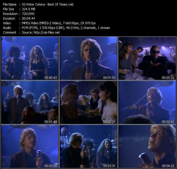 Peter Cetera video screenshot