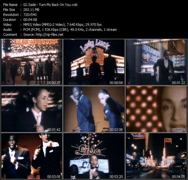 Sade video screenshot