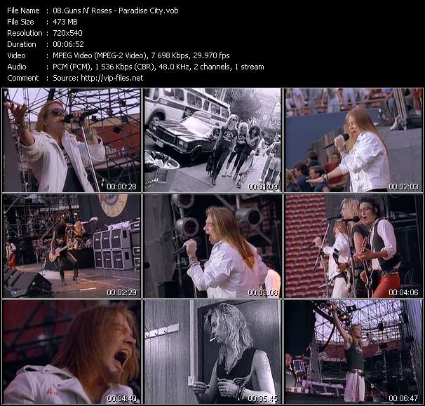 Guns N' Roses video screenshot