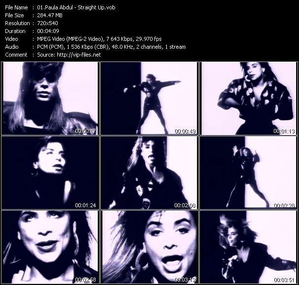 Paula Abdul video screenshot